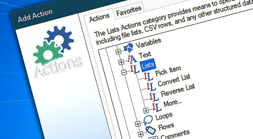 Advanced list management