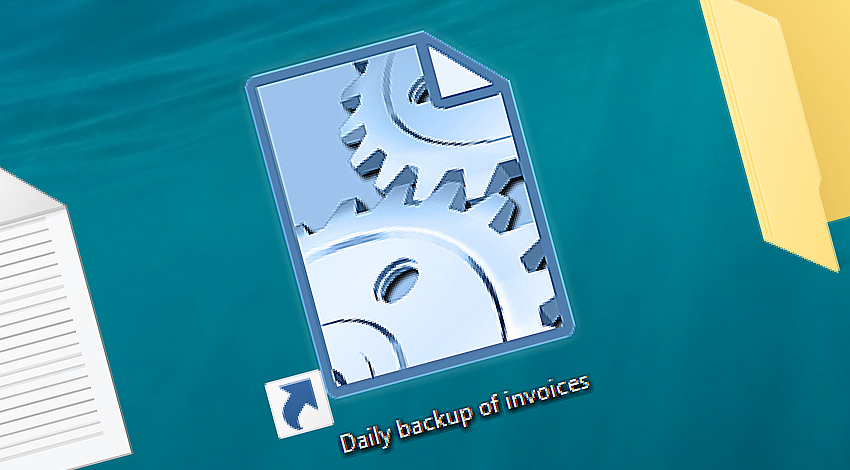 Desktop shortcut to launch an automated Task