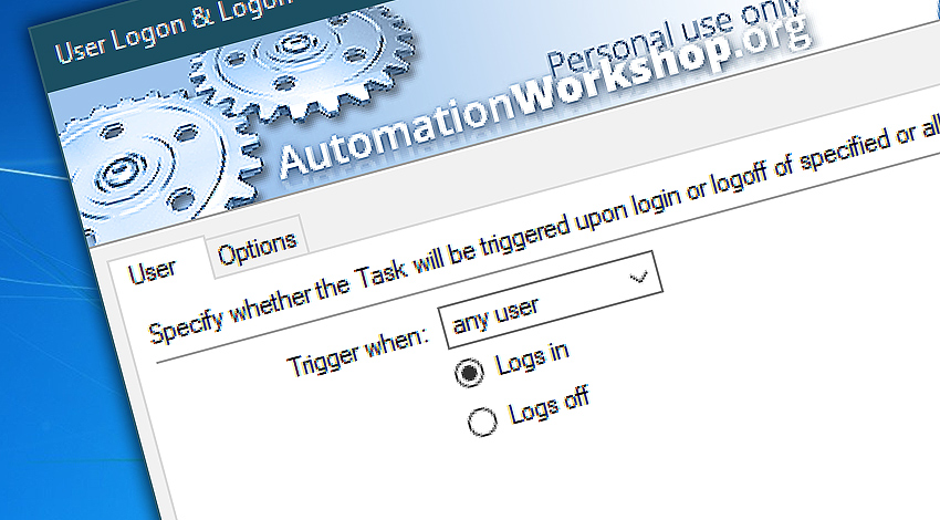 Free user logon & logoff trigger
