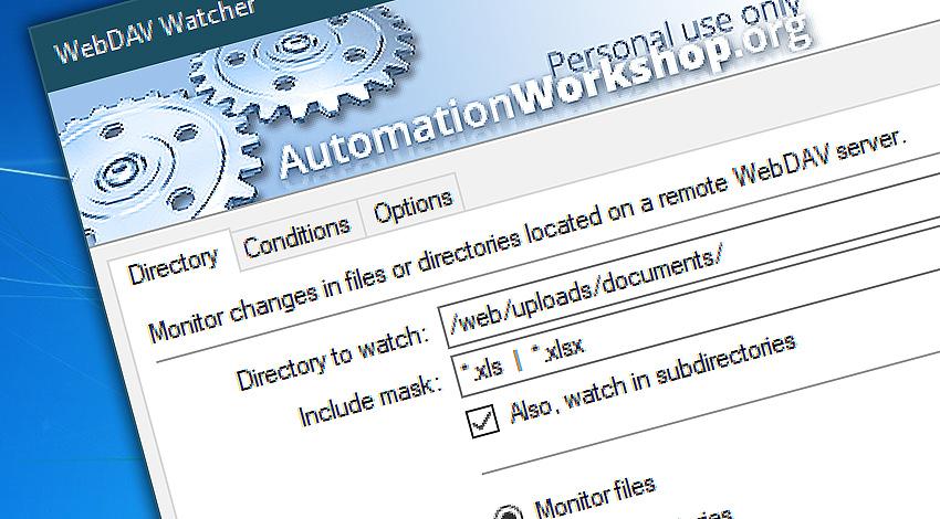Free WebDAV watcher trigger