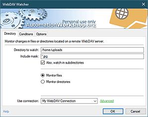 WebDAV watcher