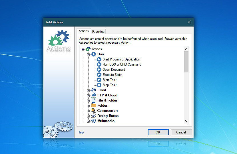 Add Action · Automation Workshop Free Edition screenshot