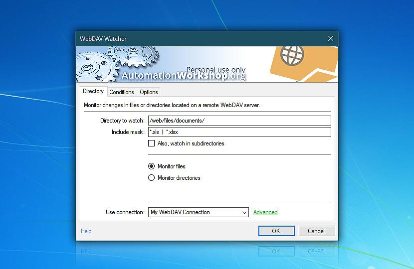 WebDAV Watcher · Automation Workshop Free Edition screenshot